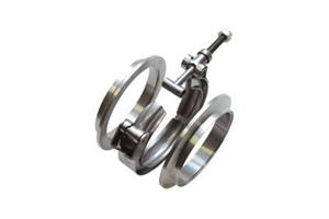"Vibrant Stainless Steel V-Band Flange Assembly for 4"" O.D."