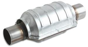 "Vibrant Oval Ceramic Core Catalytic Converter 2.25"" inlet/outlet"