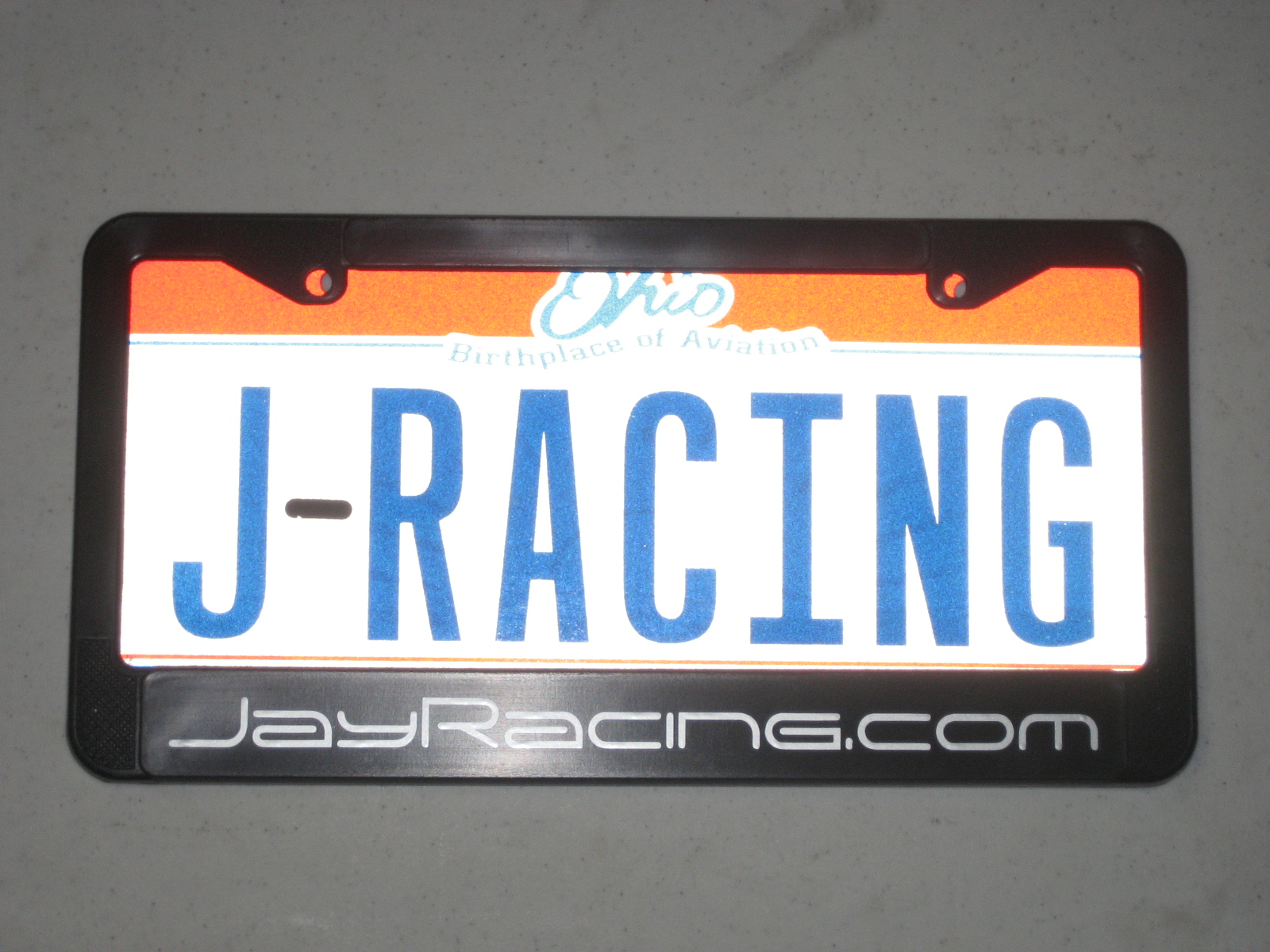 Jay Racing License Plate Frame